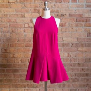 cameo Pink Dress with Drop Flared Hem